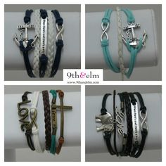 #ad Arm party bracelets on sale now at 9thandelm.com- all under $20! I like the 2 on top!