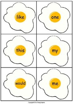 Sight Word Egg and Pancake Flipping Center - Dolch Lists 3 and 4 #sight words