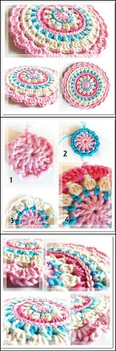 Crochet Little Spring Mandala - 60+ Free Crochet Mandala Patterns - Page 2 of 12 - DIY & Crafts