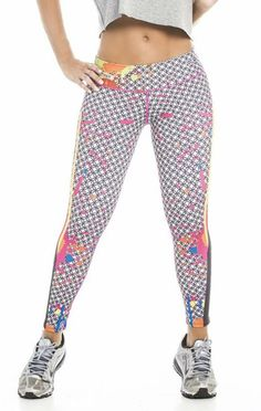e17d06661602 Colombian Fiber Leggings Activewear for women. Printed Fashion workout  compression pants with design.