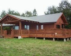 Imagen relacionada Simple House Design, Cabin Kits, Construction, Wooden House, Ideas Para, House Plans, Shed, Floor Plans, Outdoor Structures