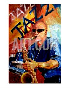 Jazz Man Giclee Print by Diane Millsap