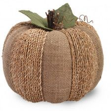 Large Burlap Pumpkin Sculpture