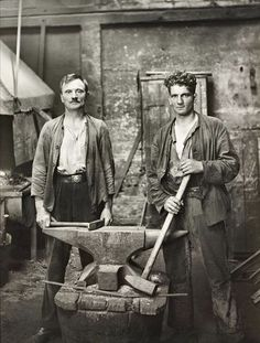German blacksmiths, 1926.