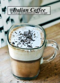 A fantastic italian coffee recipe (also known as Bicerin). Easy to make and oh so decadent! | nelliebellie.com
