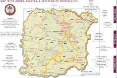 Sub regions Montalcino