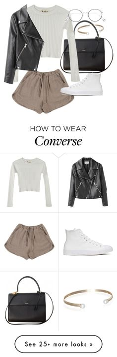 """""""Untitled #21712"""" by florencia95 on Polyvore featuring Yves Saint Laurent, For Love & Lemons, Acne Studios, Converse, Ahlem and Belk & Co. http://amzn.to/2stx5H7"""