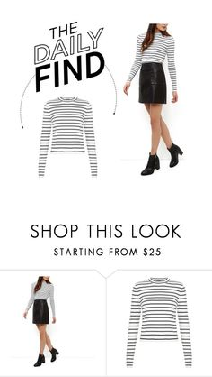 """""""The Daily Find: New Look Funnel Neck Top"""" by polyvore-editorial ❤ liked on Polyvore featuring women's clothing, women's fashion, women, female, woman, misses, juniors and DailyFind"""