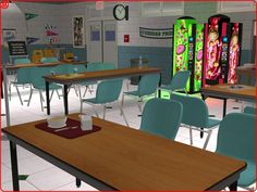 2 tile cafeteria table