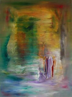"Erin Jade; Painting, ""Retro Lines Series"