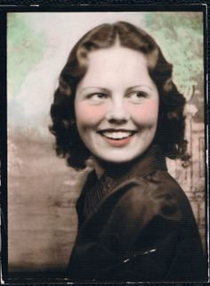 +~ Vintage Photo Booth Picture ~+  Young and carefree!