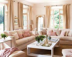 Elegir las telas perfectas para el salón
