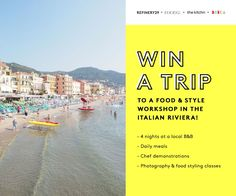 Win a trip to a food