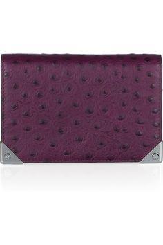 Alexander Wang|Prisma ostrich-effect leather wallet