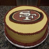 49er Tailgating Niner cake
