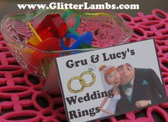 Glitter Lambs: DIY Despicable Me Birthday Party Food Card Label Ideas For Kids