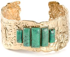 Aurelie Bidermann Green Stone Embellished Bracelet