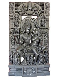 Kala Ksetram — Shiva and Parvati, Shilpaloka sculpture from Goa Buddha Life, Digital Art Fantasy, India Culture, India Art, Hindu Deities, Greek Art, Indian Gods, Sacred Art, Gods And Goddesses