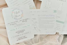 Simple Floral  Wedding Invitation | http://brideandbreakfast.ph/2014/08/26/whimsically-wonderful/#more-36189 | Photographer: Nez Cruz