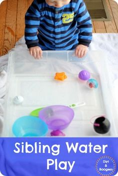 Super simple water play that works for all ages!