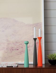 Blossom Lily Candleholders by Anders Nørgaard, $60