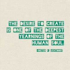 """""""The desire to create is one of the deepest yearnings of the human soul."""" #creativity #quotes #inspiration"""