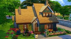 Autumn Cottage   Residential, 20x15, 2 bed, 2 bath, $ 70.797. Homey, Great Soil. NoCC, NoMOO, play tested.    Gallery Download Link   Seeing  as it's getting rather autumnal outside, and with all the Simblreen  excitement going on on my dash, I figured I'd make an autumn inspired  house. Consider this an early Simblreen treat.    It  sits on the smallest lot size, so it is a rather small house. The  master bedroom is downstairs, the kids bedroom is upstairs. I managed to  cram in two small…