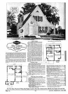 images about House plans on Pinterest   Garage Plans  Home    House Plans S  Vintage House Plans  Vintage Floor  Shhh House Stuff  Cedar Houses  Plans Exteriors  Sears Cedar  Antique House  Sell House