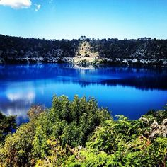 The BlueLake in MtGambier, SouthAustralia changes color from cobalt blue in the summer months to a steel grey in the winter months.