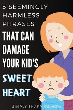These 5 seemingly harmless, super-common phrases have been shown to damage the sweet hearts of children. Instead of saying these things, try these other positive suggestions to communicate with your kids. Parenting Toddlers, Parenting Advice, Affirmations For Kids, Kids Mental Health, Gentle Parenting, Peaceful Parenting, Kids Behavior, Parent Resources, Raising Kids