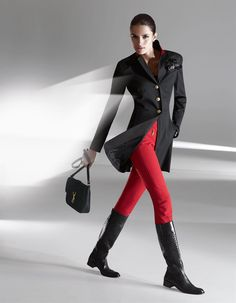 Gehrock mit wertvollen Details in der Farbe schwarz / rot - Größen 46/38/42/34/36/40/44 im Madeleine Mode Onlineshop