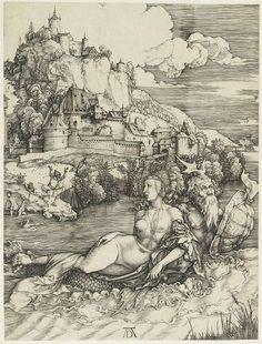 albrecht durer, het zeemonster, ca. 1498, museum boijmans