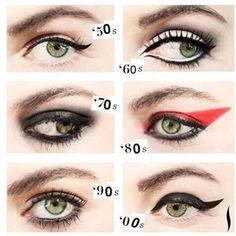 Rock 'n roll eye make-up looks. Makeup Trends, Makeup Inspo, Makeup Art, Makeup Inspiration, Makeup Tips, Beauty Makeup, Hair Makeup, Eye Trends, Makeup Ideas