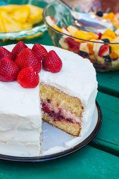 Strawberry sponge cake -- Lulu's Sweet Secrets