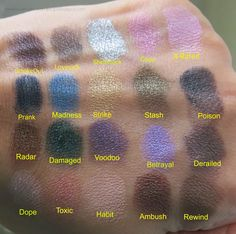 Urban Decay Vice 2 Eyeshadow Palette-Review, Photos and Swatches (In this pic the Eyeshadows are applied over a base)