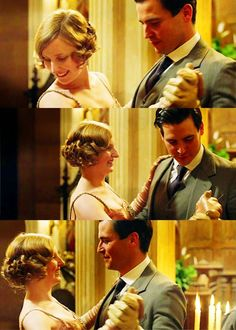 Edith & Thomas have a dance at the annual servants' ball, New Year Downton Abbey Thomas, Watch Downton Abbey, Rob James Collier, Dowager Countess, Dan Stevens, Music Tv, Jane Austen, Favorite Tv Shows, I Movie