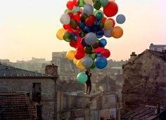 I love balloons! especially such colorful ones floating over the city