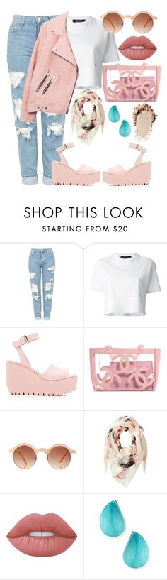 """"" by burcaak ❤ liked on Polyvore featuring Topshop, Dsquared2, Opening Ceremony, ASOS, Alexander McQueen, Lime Crime, Vhernier, StreetStyle and Pink"