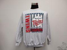 Vtg 90s Tultex Minnesota Twins 1991 WORLD SERIES Crewneck Sweatshirt sz XL Vintage by TCPKickz on Etsy