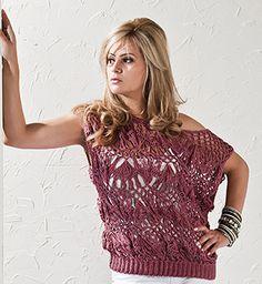 As Receitas de Crochê: Blusa rosa antigo crochê de grampo