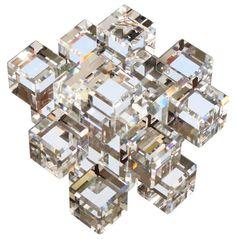 Würfel / Cube 63mm - SWAROVSKI ELEMENTS - premium-kristall