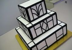 Add some gold to this one and would be perf . . . 24 Pretty Perfect Art Deco Cakes - Aisle Perfect