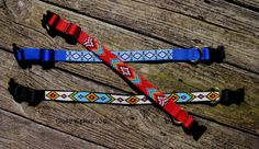 Beaded Dog Collar Unique Custom Designs Hand Beading by AjaiaAjaja