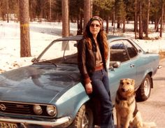 My Dear Mom In The 70s With Her German Shepard And Manta