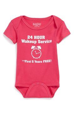 Sara Kety Baby & Kids 'Wakeup Service' Bodysuit
