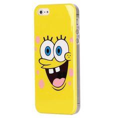 Trendy hoesje met Sponge Bob design voor de iPhone 5. -