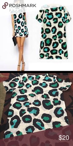 """Spotted Tunic/Dress So cute! Tags were removed so I don't know the material or the size but it feels very silky. 33"""" long/20.5"""" across. Could fit size Medium or Small with a fun belt! No signs of wear. BUNDLE AND SAVE! Dresses Mini"""