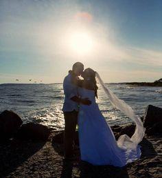 Beach wedding photo