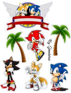 Sonic Birthday Cake, Sonic Birthday Parties, Sonic Party, Diy Birthday Banner, 4th Birthday, Bolo Sonic, Sonic Cake, Hedgehog Birthday, Party Co