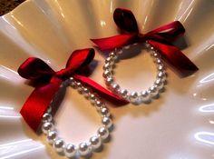 Little Girl Pearl Bracelets SET of 2   for flower by mmtncrfts, $16.50